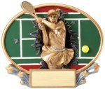 Motion X Oval Tennis RCB Awards | Crystal Awards - Outdoor Plaques - Cast Bronze Plaques