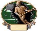 Motion X Oval Lacrosse RCB Awards   Crystal Awards - Outdoor Plaques - Cast Bronze Plaques