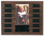 Cherry Finish Photo Perpetual Plaque RCB Awards   Crystal Awards - Outdoor Plaques - Cast Bronze Plaques