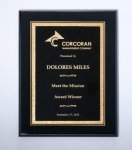 Black High Lustr Plaque Recognition Plaques