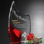 Allure Ruby Award  Red Optical Crystal Awards