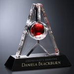 Alden Award Red Optical Crystal Awards