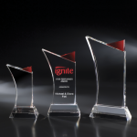 Firefly Red Optical Crystal Awards