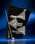 Abstract Clear and Black Acrylic Award Religious Awards