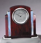 Rosewood  and Aluminum Clock Secretary Gifts