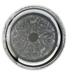 Chrome Tray  Round Design Secretary Gifts