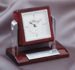 Tilting Rosewood Desk Clock Secretary Gifts