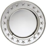 Round Plate Silver With Stars Secretary Gifts