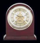 Plymouth Rosewood Piano Finish Desktop Clock Secretary Gifts