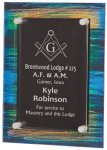Painted Acrylic Stand-Off Plaque Award SHOWROOM - Acrylic