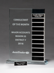Jade Glass Award with 12 Individual Blocks Square Rectangle Awards