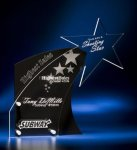 Clear Star with Black Accent Acrylic Award Star Acrylic Awards