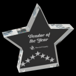 Silver Star Performance Acrylic Star Awards