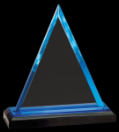 Blue Triangle Impress Acrylic Award Triangle Awards