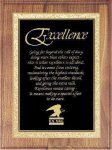 Assembled Plaque with Black Plate Walnut Plaques