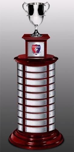 Two Tier Perpetual Trophy Base 14 with Nickel-Plated Cup